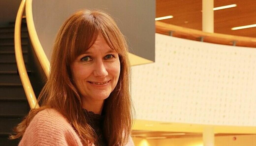 Stine Raaden, heter den nye kultursjefen i byen. I dag er hun sjef for det nye biblioteket.