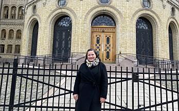 Margrethe besøkte sin nye arbeidsplass på Stortinget