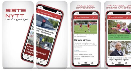 Mitt Kongsvinger har lansert app for nettavisen
